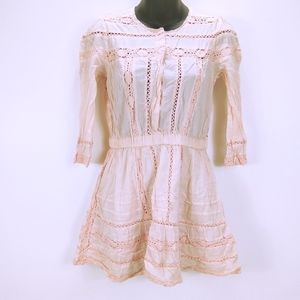 Tularosa Payton Dress 100% Cotton Blush Pink Dress
